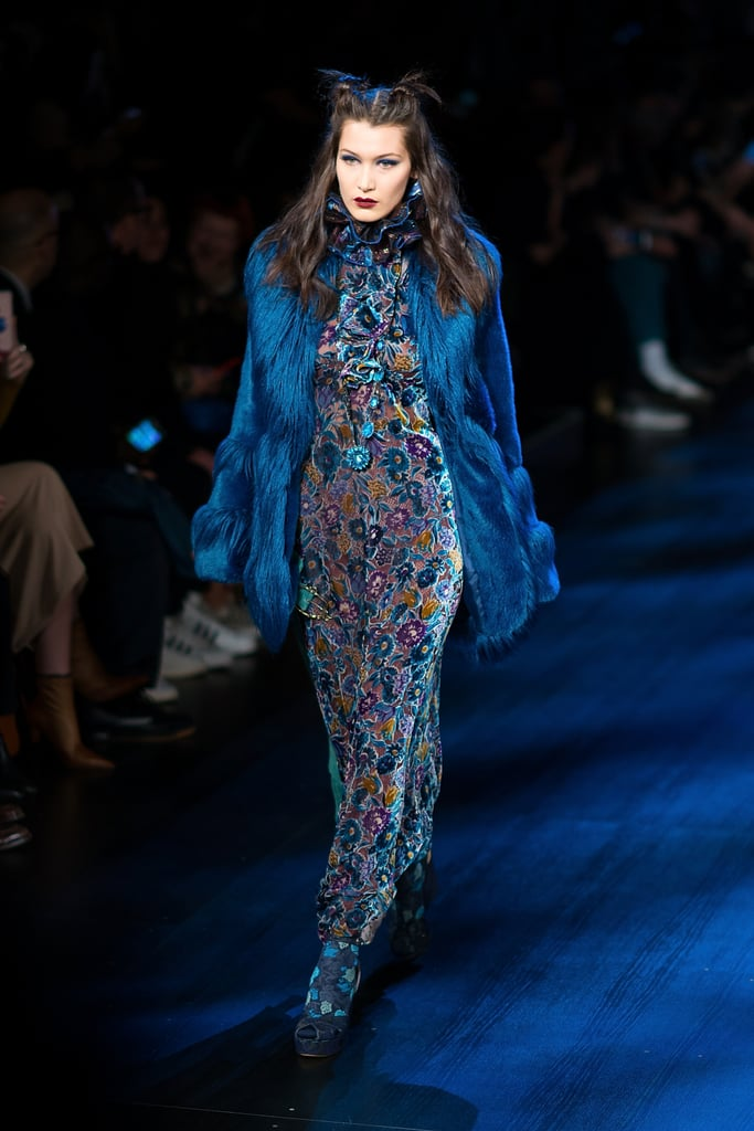 Bella Hadid Walking the Anna Sui Runway During NYFW in 2017