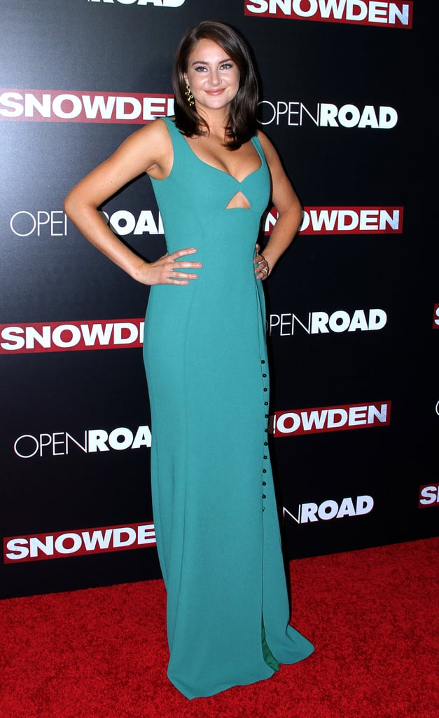 Shailene at the Snowden Premiere in New York