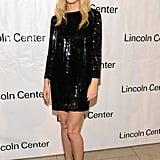 Gwyneth Paltrow wore a black frock.