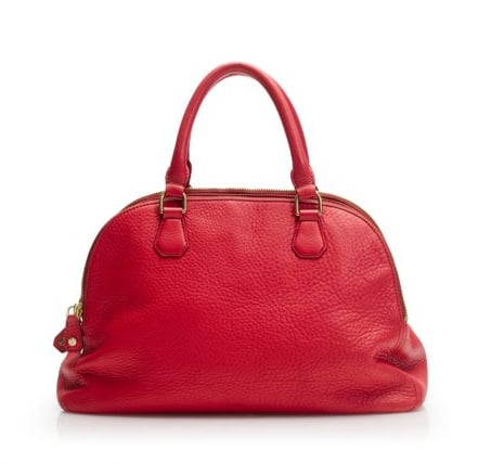 Soft pebbled leather looks sleek but effortless in a cherry-red shade.  J.Crew Biennial Satchel ($348)