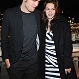 Robert Pattinson and Kristen Stewart enjoyed the view at a Paris photocall in December 2008.