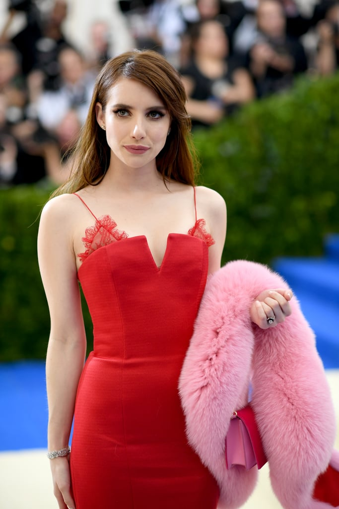 Prepare to Scream Once You See Emma Roberts's Lacy Met Gala Dress