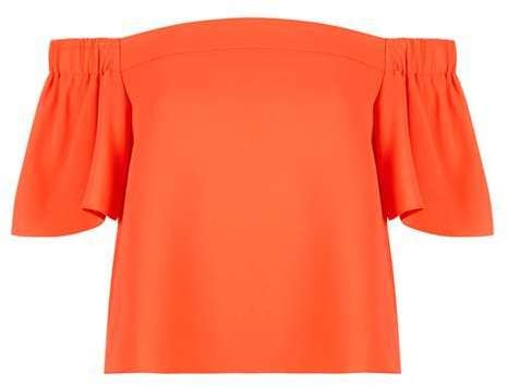 Topshop Structured bardot top ($60)