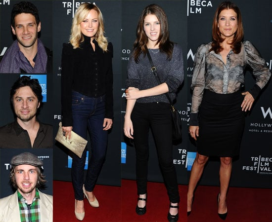 Celebs toasted the Tribeca Film Festival last night during a cocktail reception at the W Hotel in Hollywood. The event begins on April 20 in NYC, but stars including Malin Akerman, Dax Shepard, Anna Kendrick, and Kate Walsh got an early start to the celebration of independent filmmaking at the packed LA party. Malin's Bang Bang Club, which also costars Ryan Phillippe, and Kate's Angel's Crest will be among the first movies to screen at this year's fest. Yesterday evening also marked one of Justin Bartha's first public appearances since his split from Ashley Olsen, and The Hangover star was spotted catching up and laughing with friend Zach Braff inside the soirée. Zach will be a featured speaker at Tribeca this year, and fans can already start submitting questions for the Garden State director online.