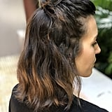 Topknot Hairstyle on a Bob Haircut