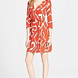 DVF New Julian Two Silk Jersey Wrap Dress ($398)