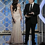 Megan Fox and Jonah Hill presented together at the Golden Globes.