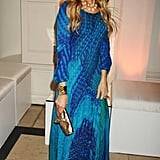 Sarah Jessica Parker traded her poufy Alexander McQueen for something a bit more loose and airy at the Sex and the City 2 London afterparty.