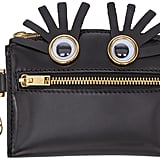 Sophie Hulme Black Leather Eye Coin Pouch ($195)