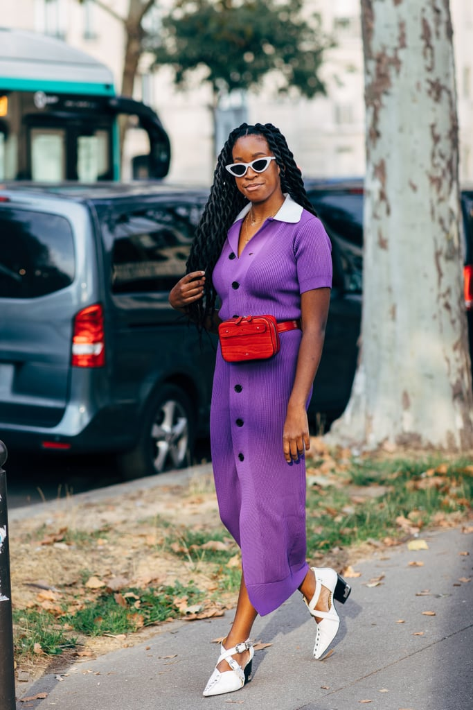 Invest In A Midi Sweater Dress With Buttons Down The Front And Work