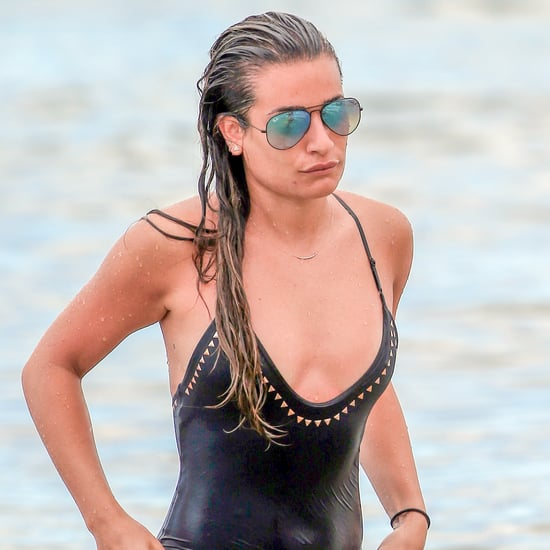 Lea Michele's Black One-Piece Swimsuit on Memorial Day 2016
