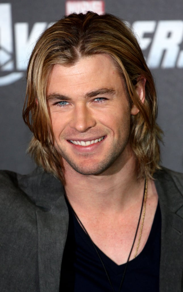 Chris Hemsworth Male Celebrities With Long Hair
