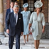 Pippa Middleton Blue Dress at Christening Prince Louis 2018