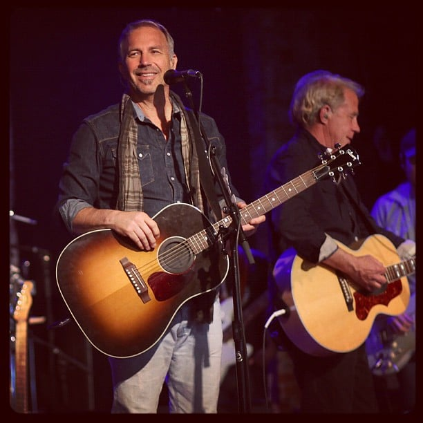 Kevin Costner performed with his band Modern West in New York City.  Source: Instagram user rollingstone