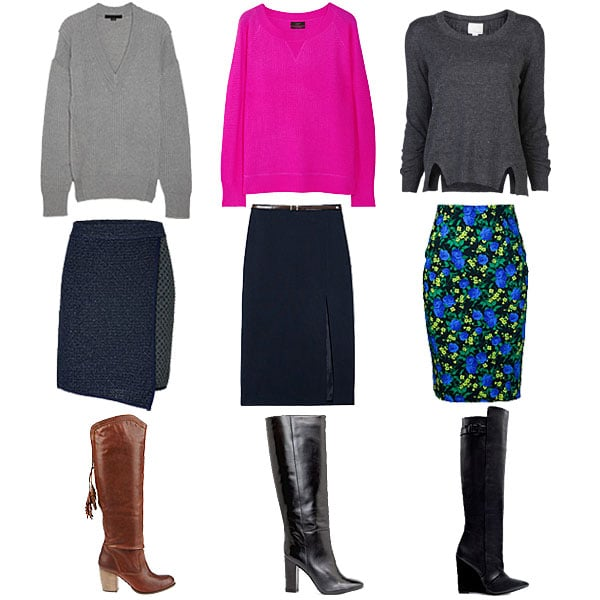 How to Wear Knee High Boots and Pencil Skirts