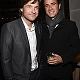Jason Bateman and Justin Theroux caught up at the Dolce & Gabbana party.