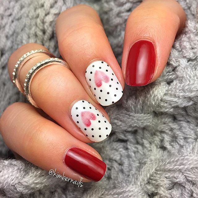 Pretty valentines day nail art inspiration from instagram fall in love with the best valentines day nails from instagram prinsesfo Choice Image