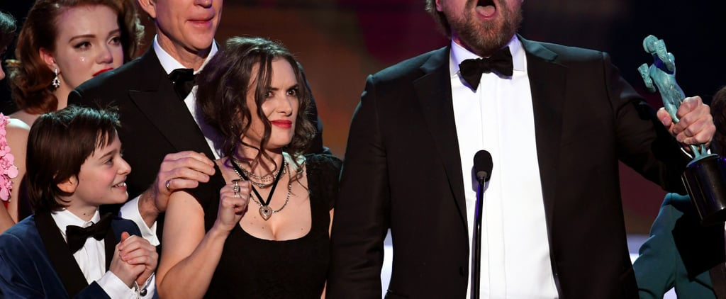 Winona Ryder's Roller Coaster of Reactions at the SAG Awards Is a Treasure Trove For Memes