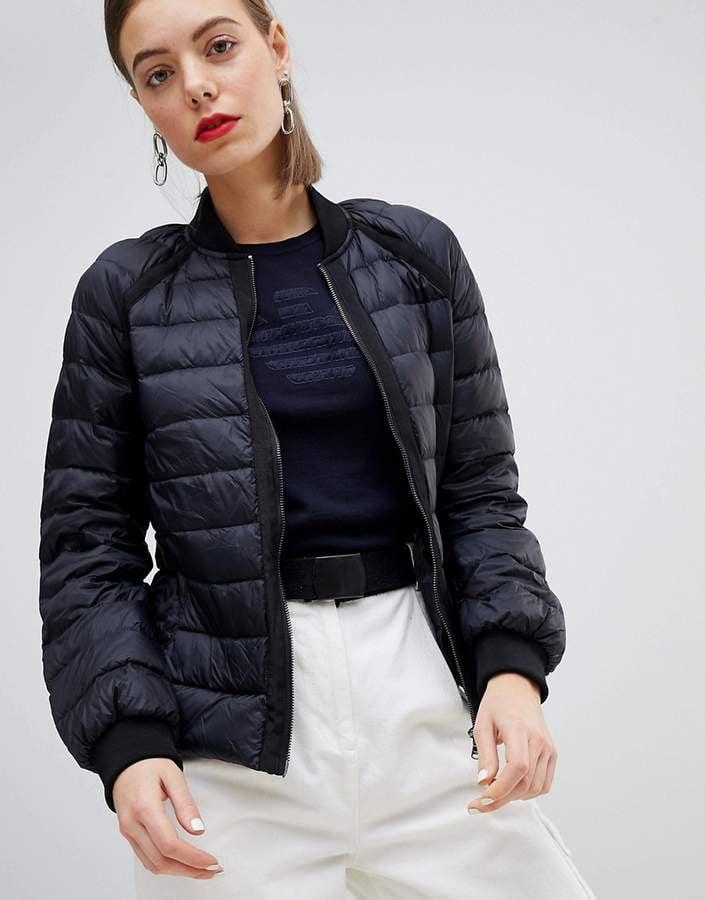 7add031802dd6 Emporio Armani Raglan Jacket   Bella Hadid's Aritzia Black Puffer ...