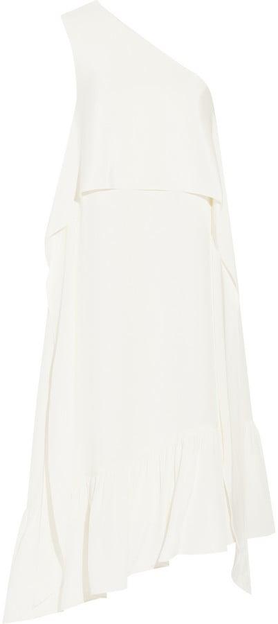 Tibi One Shoulder Silk Crepe Dress ($795)