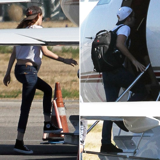 Rob and Kristen Head to NYC Together on a Private Plane