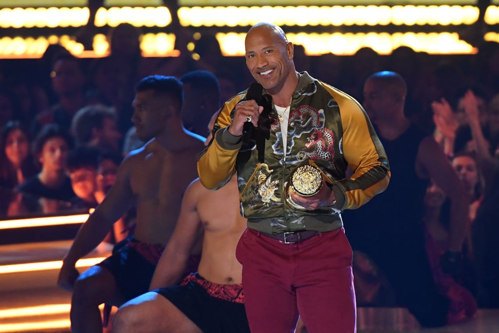 Dwayne Johnson at the 2019 MTV Movie and TV Awards