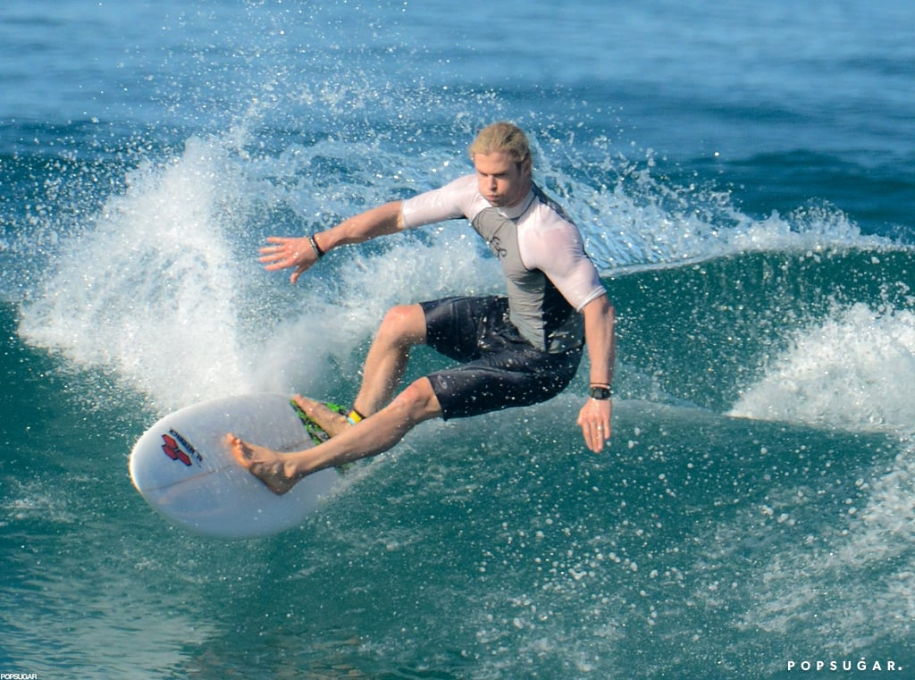 Chris Hemsworth shredded a wave in Costa Rica in January.