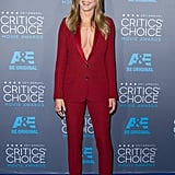 An Eye-Catching Suit With a Superplunging Neckline