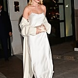 Rosie Wore a Long White Slip With a Long Coat