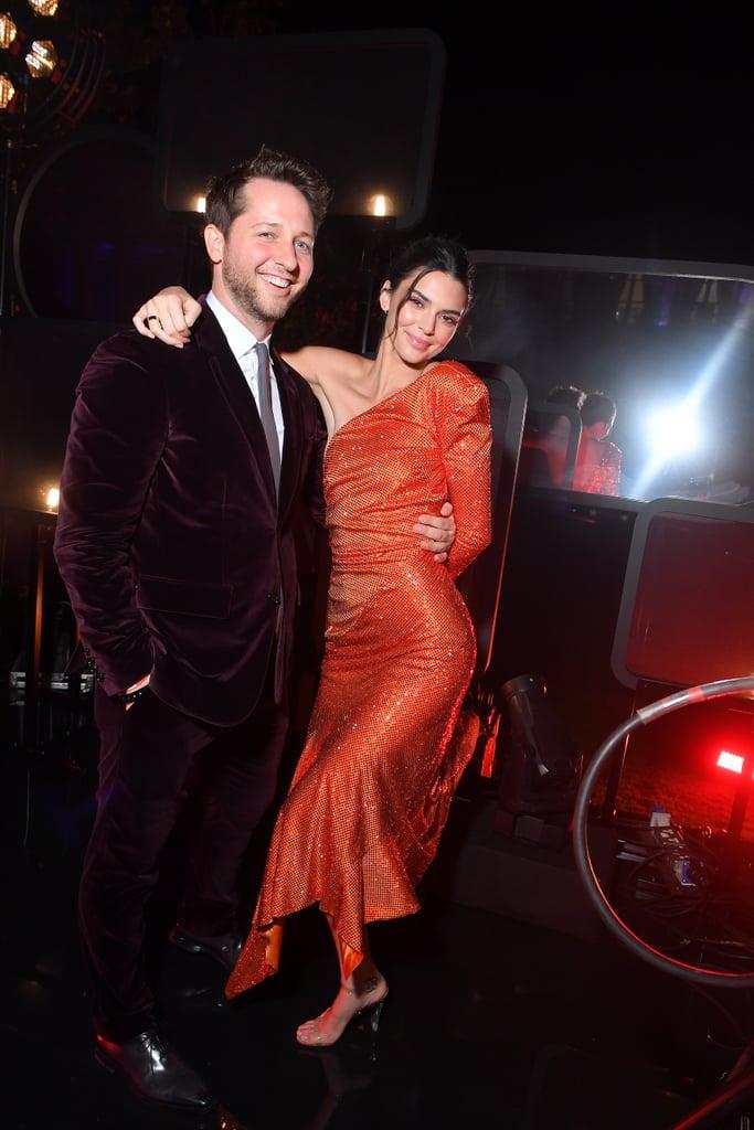 Kendall Jenner and Bella Hadid in Orange Dresses in Paris