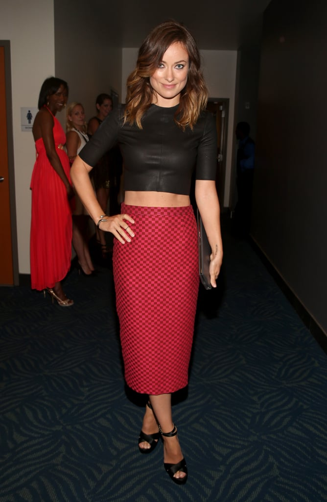 It's not easy to make a crop top look sexy and sophisticated — but Olivia Wilde did just that in this A.L.C top, pencil skirt, and Jerome C. Rousseau heels at the ESPY Awards.