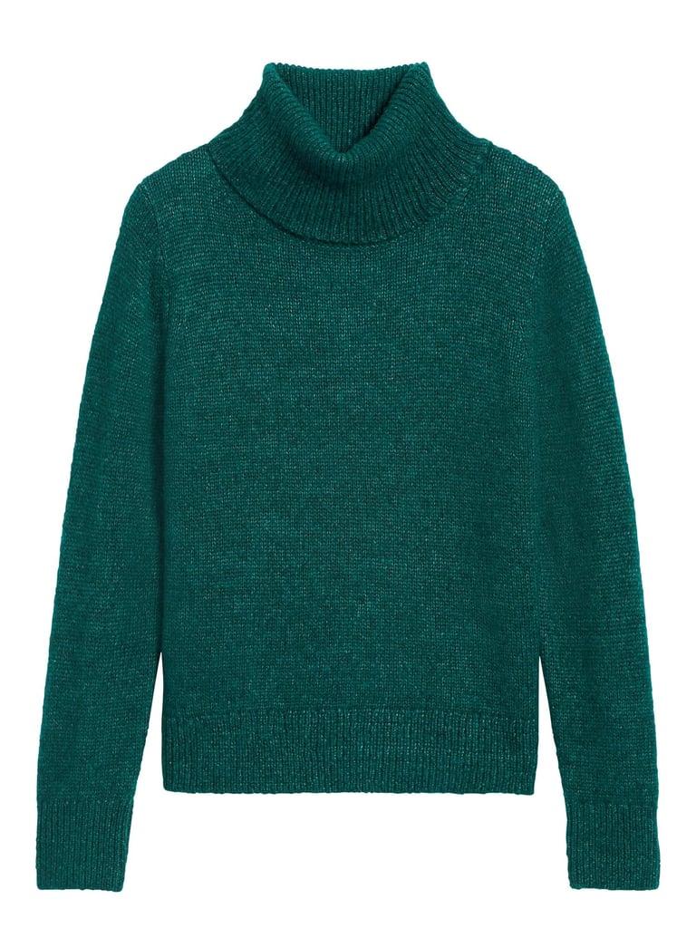 Merino-Blend Turtleneck Sweater