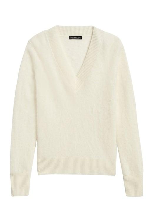 Brushed Cashmere V-Neck Sweater