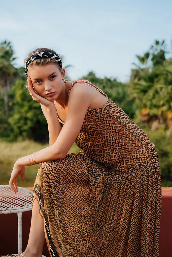 Katya Shimmer Midi Dress