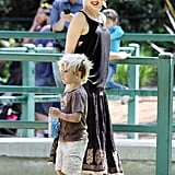 Pictures of Gwen Stefani With Kingston and Zuma at Zoo