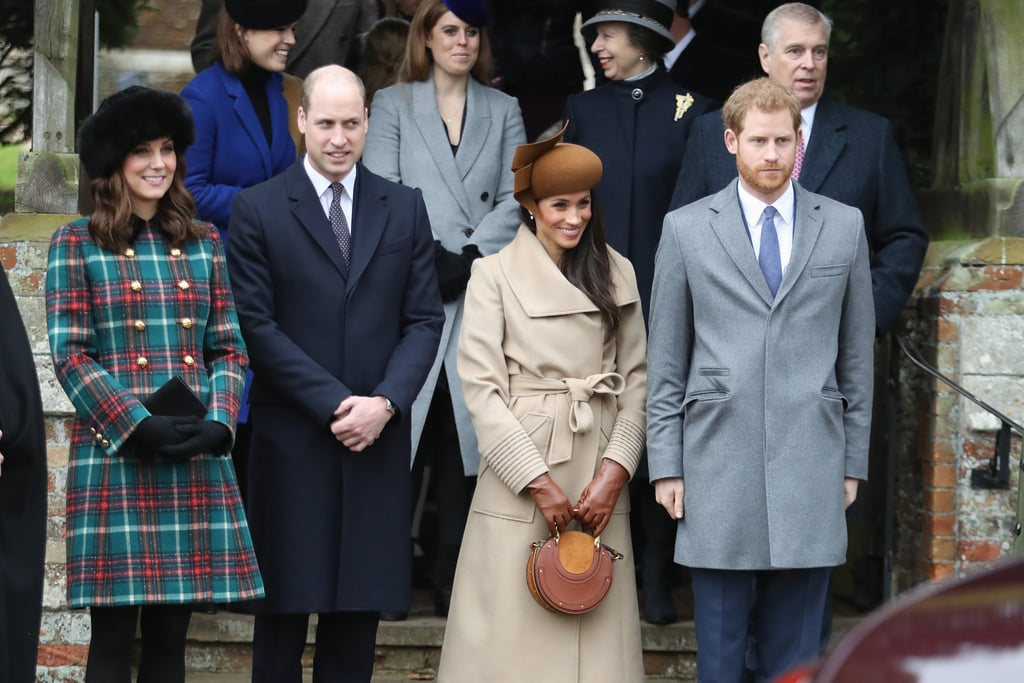 The first time we saw Harry, Meghan, Kate, and William together was on Christmas day back in 2017.