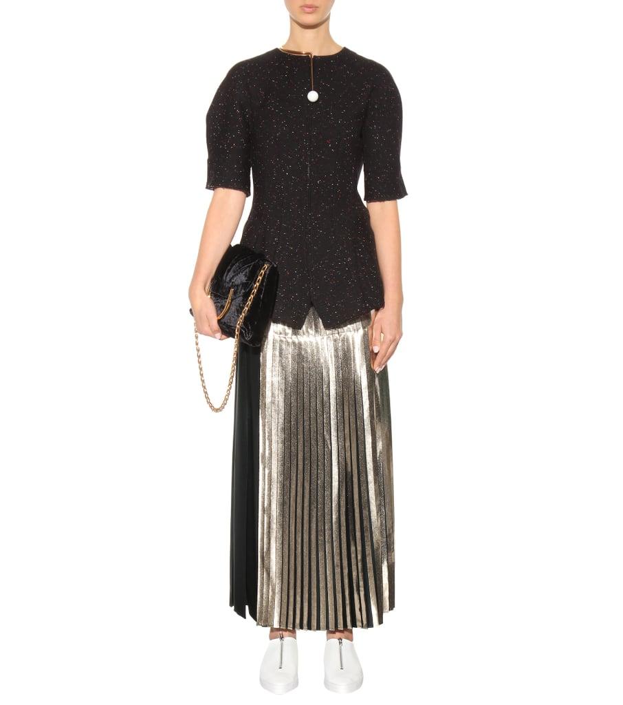 Stella Mccartney Carmen Metallic Pleated Skirt Queen Letizia S
