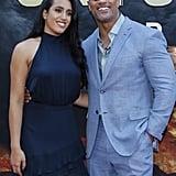 Dwayne Johnson and Daughter at Skyscraper Premiere