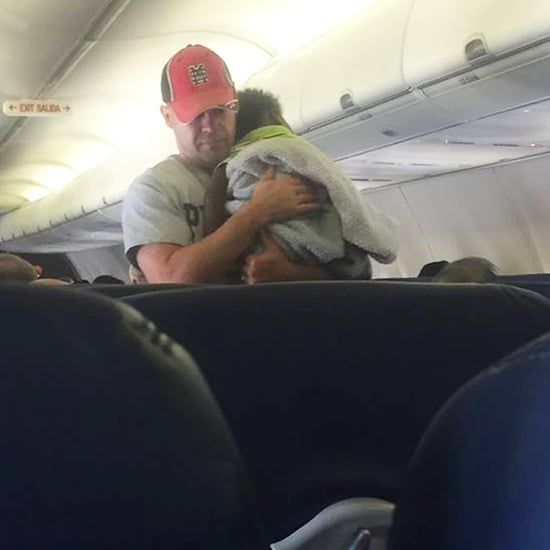 Dad Helps Pregnant Woman on Plane Soothe Baby Crying
