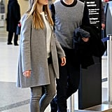 Justin Timberlake caught a flight out of LAX with Jessica Biel.
