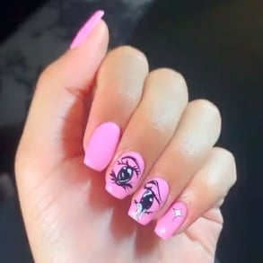 Jordyn Woods's Anime Nail Art