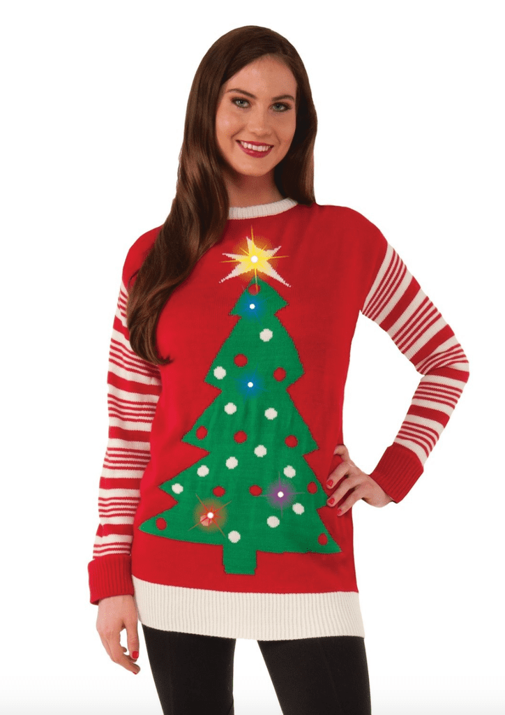 Christmas Tree Light-Up Ugly Christmas Sweater