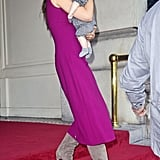 Harper Beckham was nestled in Victoria Beckham's arms while in NYC during September 2011.