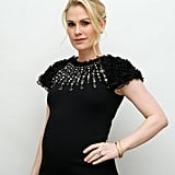 Anna Paquin attended a True Blood press conference in late June wearing a chic black dress that accommodated her growing bump.
