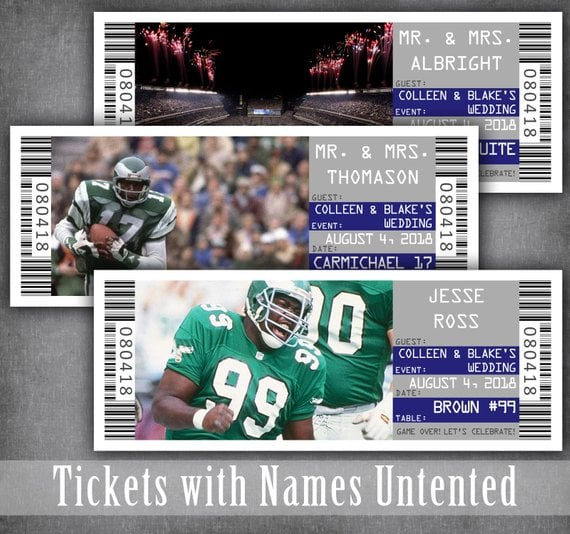 Football Ticket Place Cards