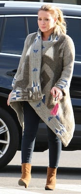 Hilary Duff in LINE Sweater With Alexander McQueen Keyfob