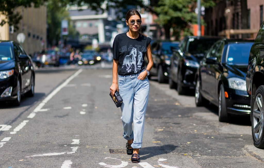 8cda2c967 Graphic Tees Street Style Trend at Fashion Week Spring 2017 | POPSUGAR  Fashion