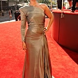 Alicia Keys stepped onto the red carpet at the MTV VMAs.