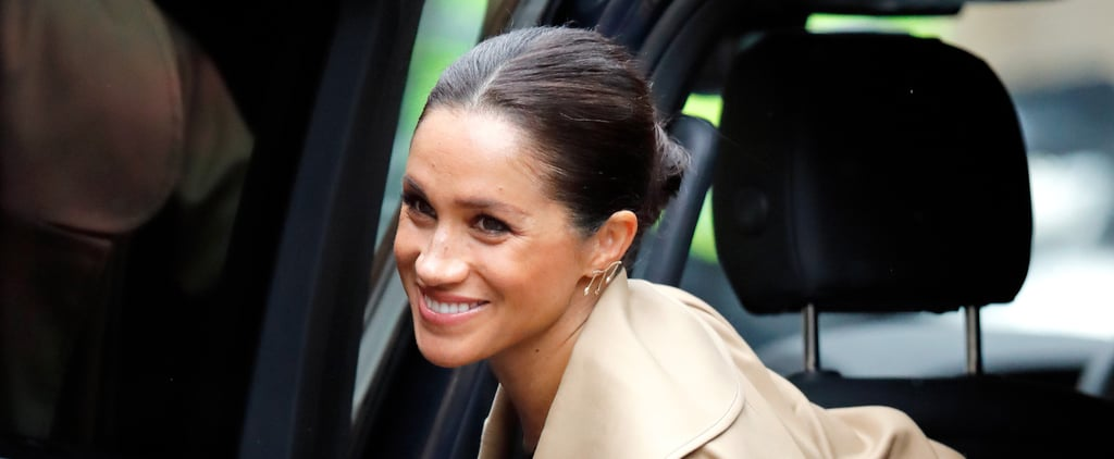 Meghan Markle Black Victoria Beckham Handbag January 2019