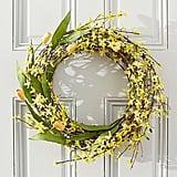 Forsythia & Tulip Wreath and Garland ($109)